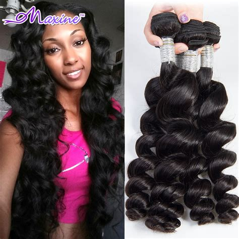 loose curl weave hairstyles rosa hair products brazilian loose wave 3pcs unprocessed