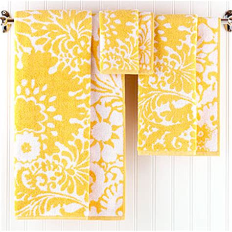 yellow patterned bath towels the ups presents have landed welcome to heardmont