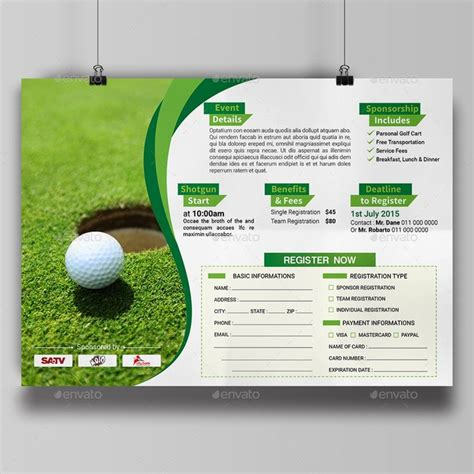 golf flyer template 29 best golf tournament images on golf outing