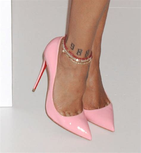 rihanna hip tattoo bet you didn t these foot tattoos