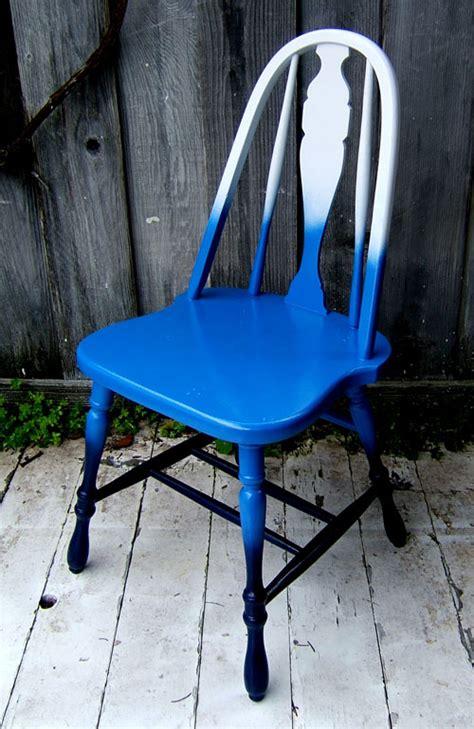 diy blue ombre fades color chair