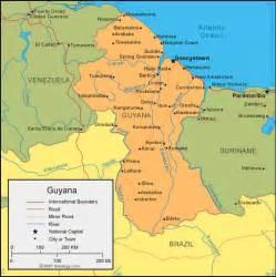 guyana map south america guyana map and satellite image