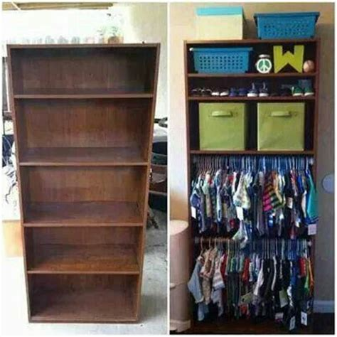Baby Wardrobe Closet turn a bookshelf with adjustable shelves into an open wardrobe for that can t