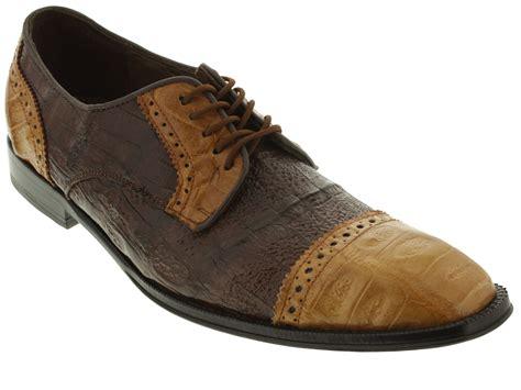 s dress shoes two tone genuine crocodile alligator
