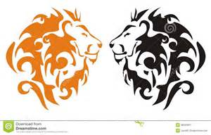 tribal lion heads vector stock image image 38223831