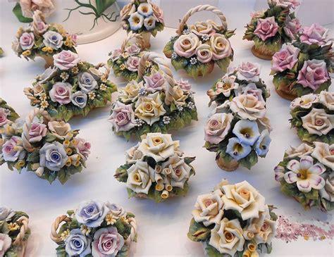 fiori capodimonte particular wastebasket with porcelain flowers capodimonte