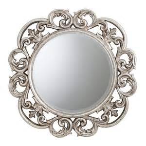 Cheri round silver mirror 91 cm exclusive mirrors