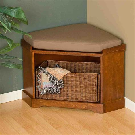 corner entry bench corner storage bench home furniture design