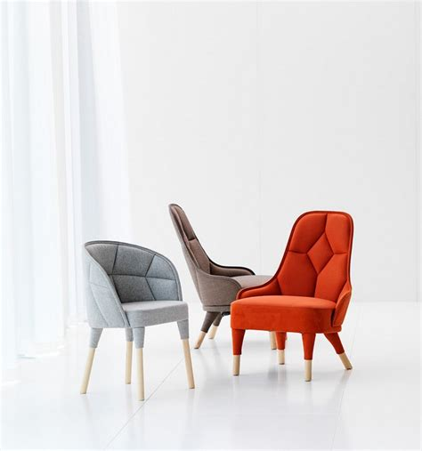 modern chair design elegantly connected emma and emily padded chair designs