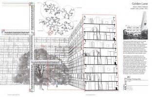 Housing Plan golden lane estate drawings alison and peter bartlett