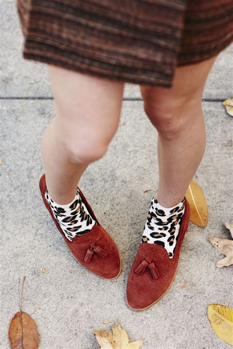 loafers with or without socks leopard socks loafers fall fashion maxxinista style
