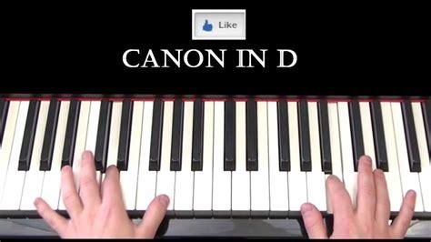 tutorial piano canon canon in d pachelbel piano cover by ryan jones youtube