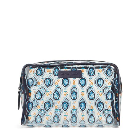 vera bradley large clear cosmetic bag ebay