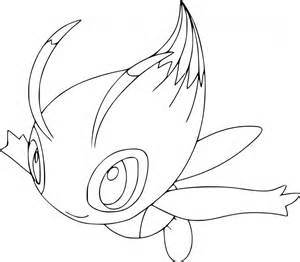 pokemon celebi coloring page