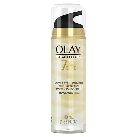 Serum Olay Total Effect olay total effects moisturizer plus serum duo with spf 15 fragrance free walgreens