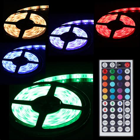 color changing led strip lights with remote 5050 smd 5m waterproof dream color changing rgb