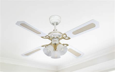 princess ceiling light 105 cm westinghouse princess trio ceiling fan in white with polished brass and reversible blades in