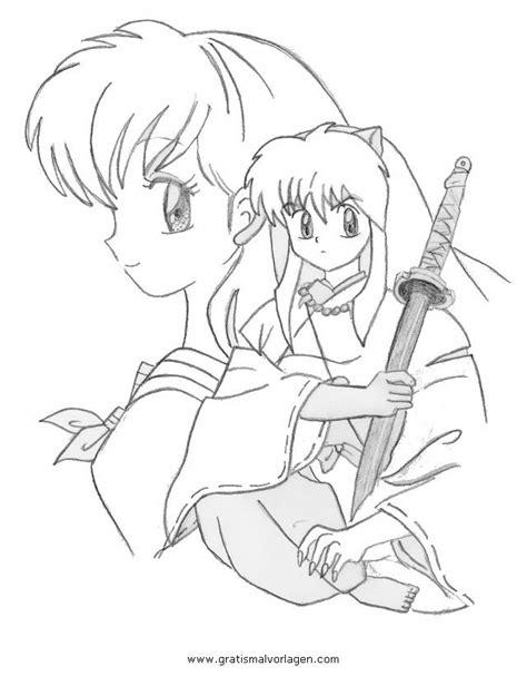 imagenes de inuyasha para dibujar a lapiz kagome inuyasha 3 gratis malvorlage in comic