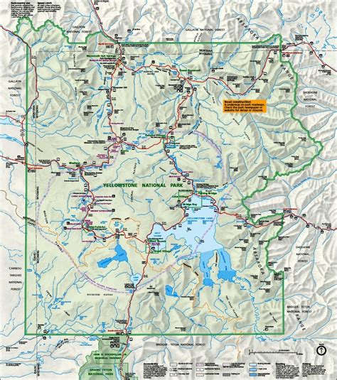map of yellowstone map of yellowstone national park travelsfinders