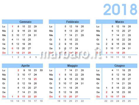 calendario 2018 da stare scarica gratis in pdf