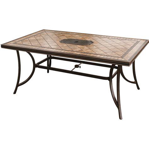 Ceramic Tile Patio Table Monaco 7 Dining Set With 9 Ft Table Umbrella Monaco7pcsw Su