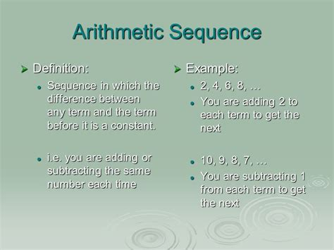 pattern sequence meaning lesson 4 4 arithmetic and geometric sequences ppt video