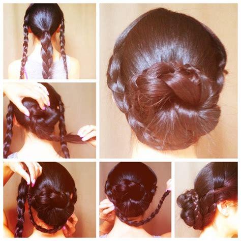 tutorial sanggul modern ala korea cara kepang rambut modern model rambut terbaru