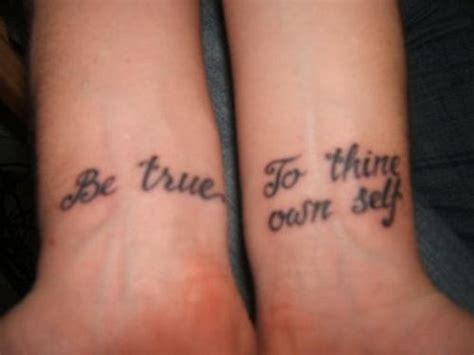 to thine own self be true tattoo to thine own self be true