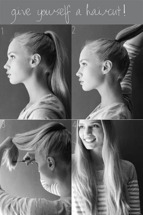 how to cut crown of hair with a lyered look how to trim your own hair kirsten zellers a diy style
