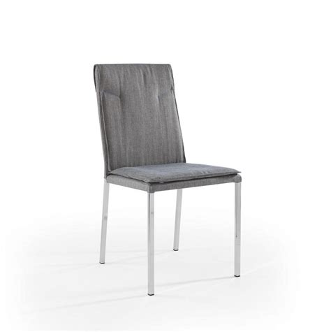 sedie cromate sedia con gambe cromate e scocca imbottita idfdesign