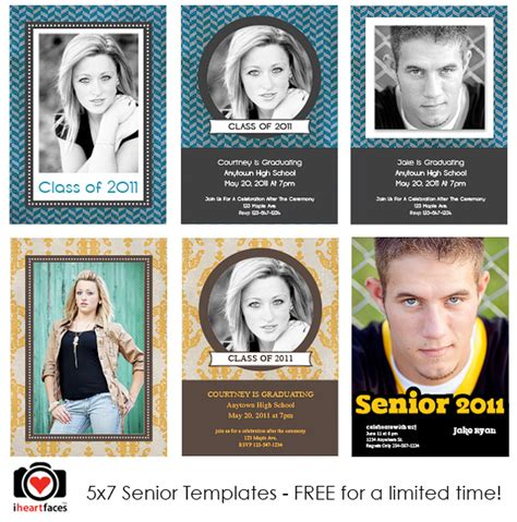 senior templates for photoshop free free graduation photoshop templates