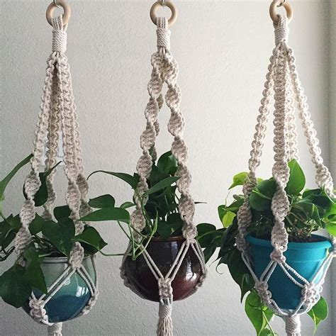 Macrame Plant Hangers Patterns - 25 best ideas about macrame plant hanger patterns on