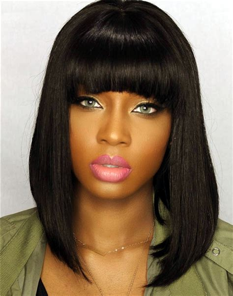 Black Hairstyle Weave Bob With Bangs by Bob Weave Hairstyles With Bangs Hairstyles