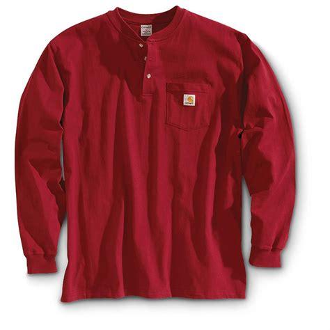 t shirt carhartt logo s carhartt 174 sleeve pocket henley work shirt