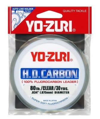 Leader Mustad Fluoro Carbon 55 Lb yo zuri hd80lb cl hd fluorocarbon leader 1 jpg