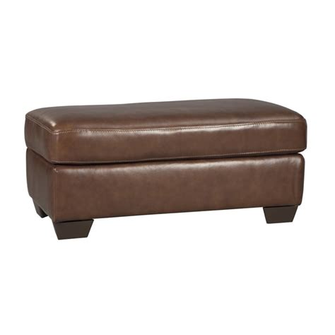 saddle leather ottoman ashley lugoro leather ottoman in saddle 5060214