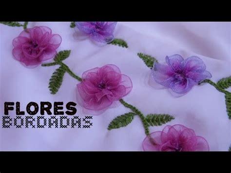 como hacer bordados con flores de liston flores bordadas con list 243 n c 243 mo hacer un vestido parte 2