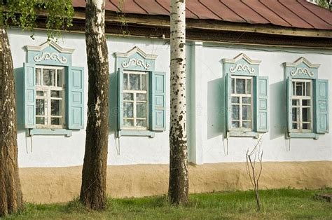 cottage style shutters royalty free stock photograph russian style painted