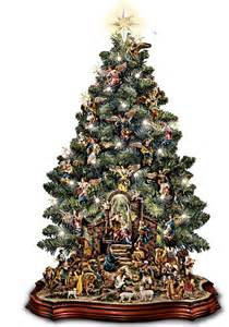 nativity scene musical pre lit tabletop christmas tree