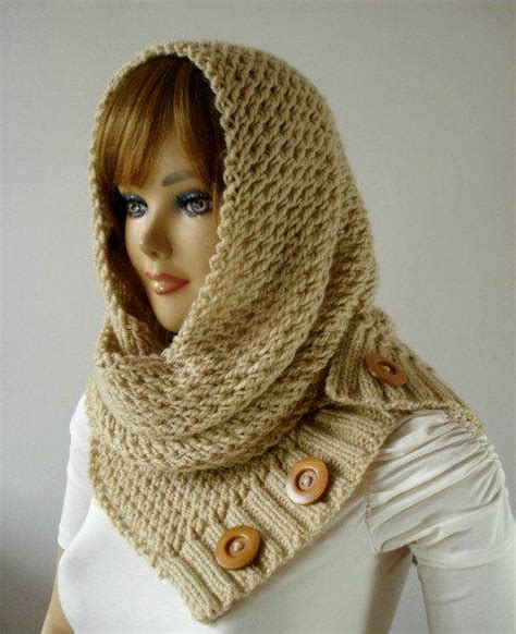 hooded cowl knit pattern knitting pattern hooded cowl scarf from liliacraftparty