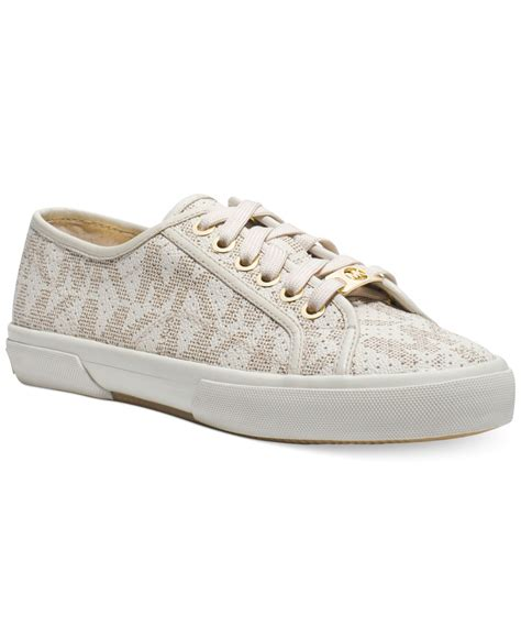 mk sneakers michael kors michael boerum sneakers in white lyst