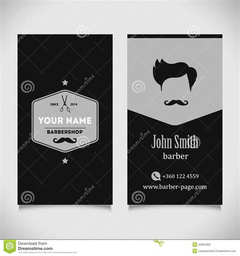 Hair Style Tools Name In Kitchen by Hair Salon Barber Shop Business Card Design Stock Vector