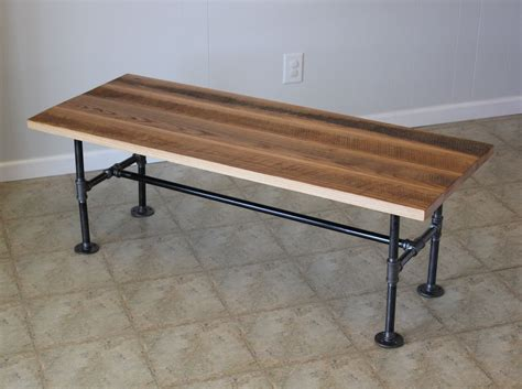 Custom reclaimed barn wood coffee table with industrial pipes by yoder s wooded lot custommade com