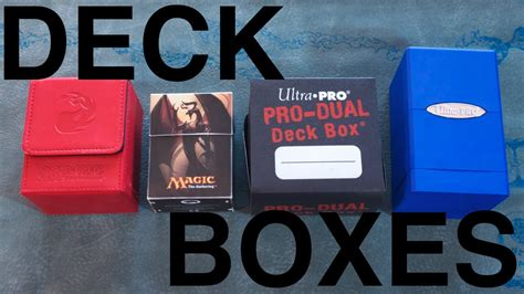 best deck magic what is the best deck box for magic the gathering