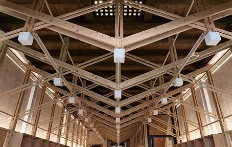 inverted trusses inserted  historic dry goods store