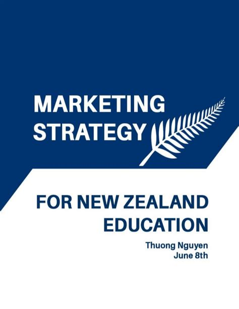 Marketing Education 2 by Marketing Strategy For New Zealand Education