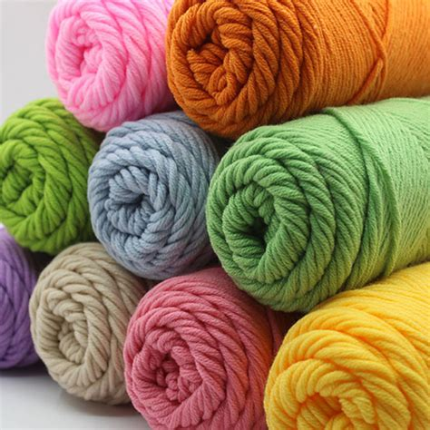 knitting thick yarn 6pcs lot cotton thread milk cotton 3mm