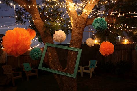 backyard birthday party ideas adults backyard lighting ideas for a party marceladick com