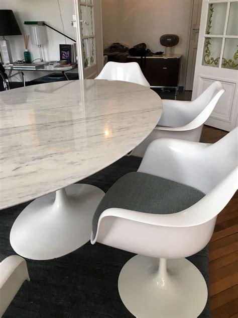 table knoll saarinen  cm en marbre latelier  boutique vintage achat  vente