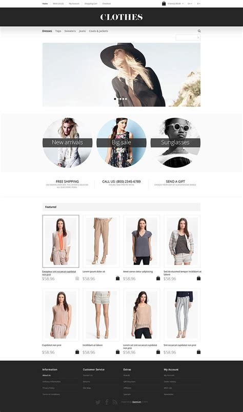 opencart themes clothing apparel responsive opencart template clothes and templates